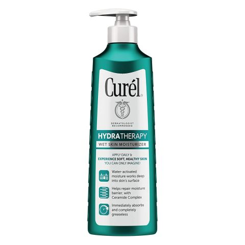 Curél Hydra Therapy In Shower Lotion, 12 Ounce, Wet Skin Moisturizer for Dry or Extra-dry Skin, with Advanced Ceramide Complex