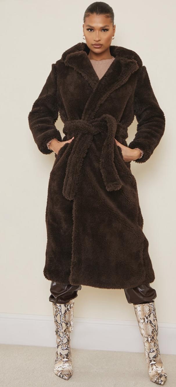 PLT faux fur coat