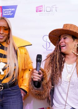 Mary J Blige And Simone I Smith Launch Their Sister Love Jewelry Holiday Pop Up Shop At Aloft Hotel In Long Island City, NY