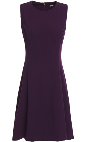 DKNY Flared stretch-crepe mini dress