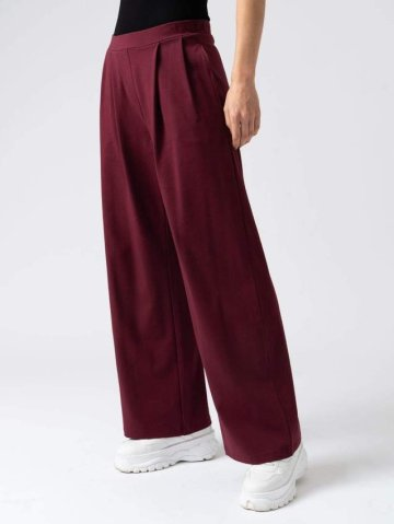 Saint and Sofia Camden Wide Leg Pant - Burgundy