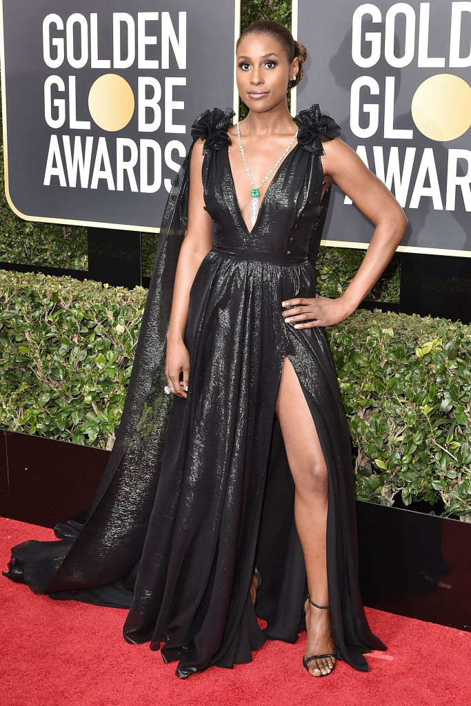 ISSA RAE AT THE 75TH ANNUAL GOLDEN GLOBE AWARDS, 2018