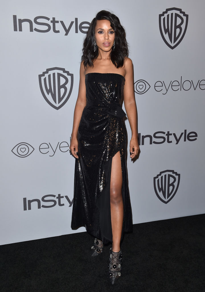KERRY WASHINGTON AT THE INSTYLE AND WARNER BROS GOLDEN GLOBES AFTER PARTY, 2018