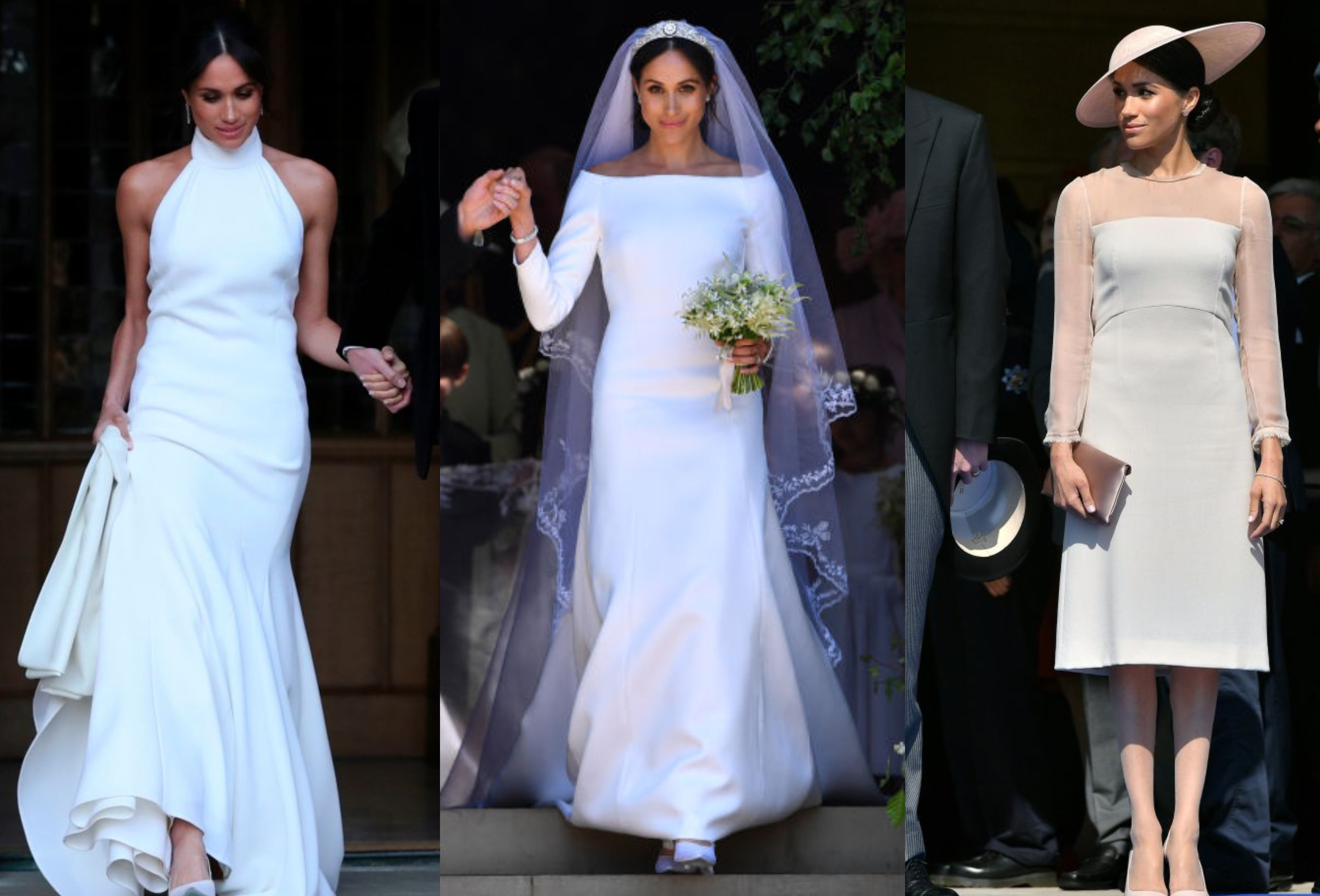 Meghan Markle Dress Collage