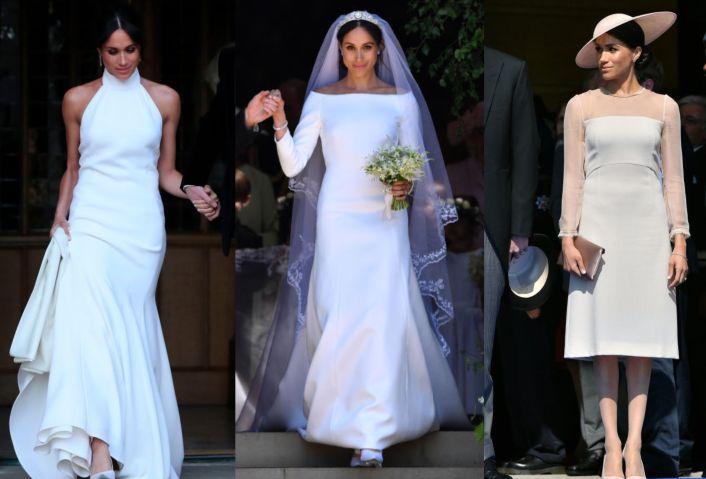 Meghan Markle Dress Collage