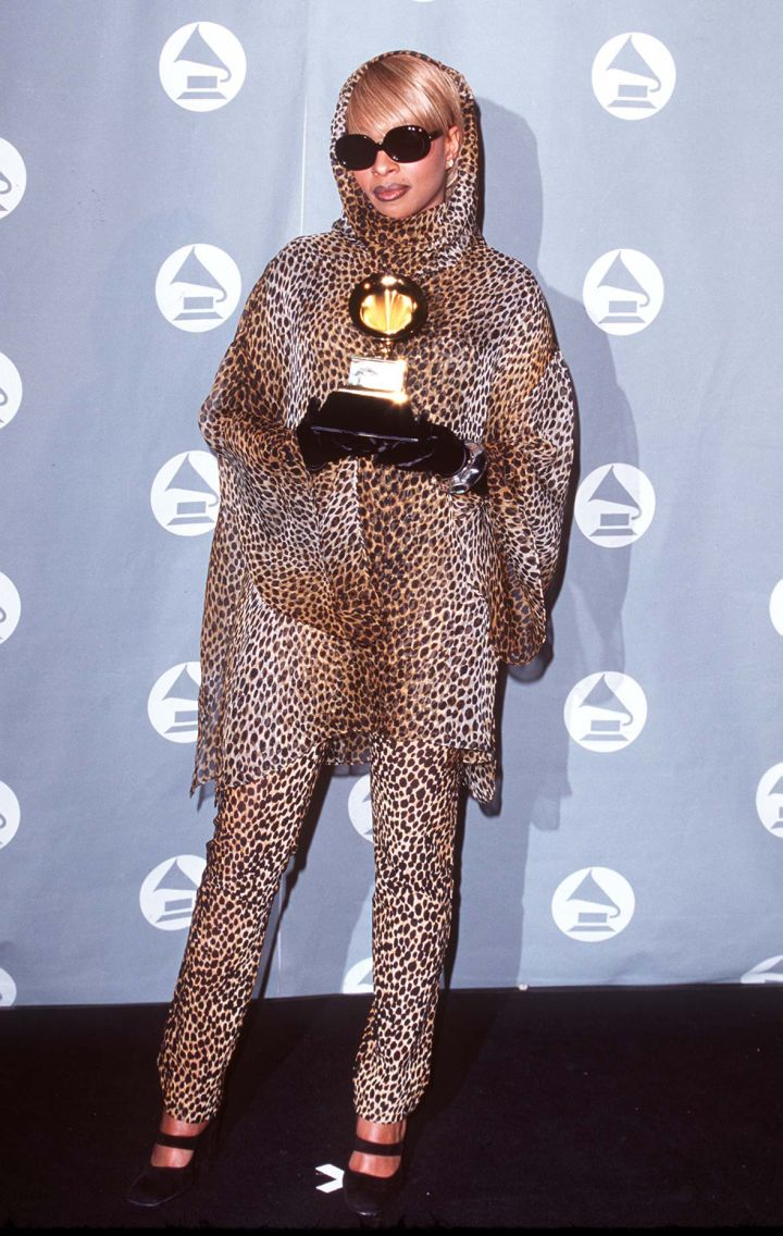MARY J BLIGE AT THE 28TH ANNUAL GRAMMY AWARDS, 1996