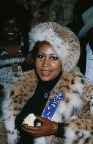 Aretha Franklin at the Hollywood Christmas Parade