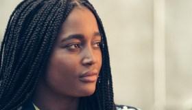Close up Africa black woman portrait shoot