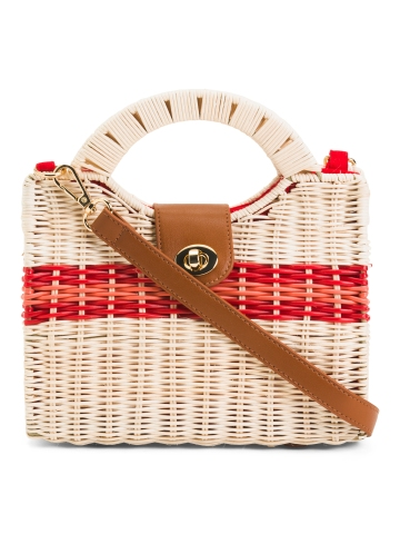 Wicker Satchel
