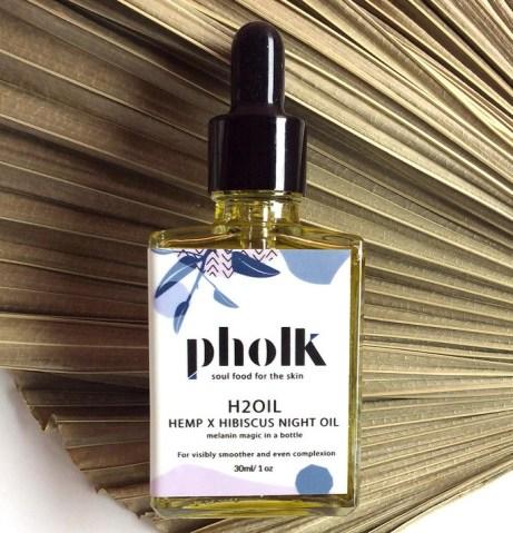 Pholk Beauty H2OIL Night Treatment Hemp X Hibiscus Night Oil