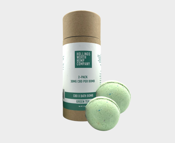 Hollingsworth Hemp Company CBD x Bath Bombs (Green Tea)