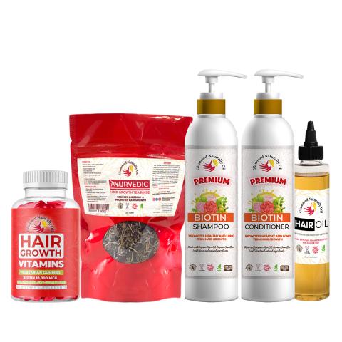 Glammed Naturally Oil Hair Kit