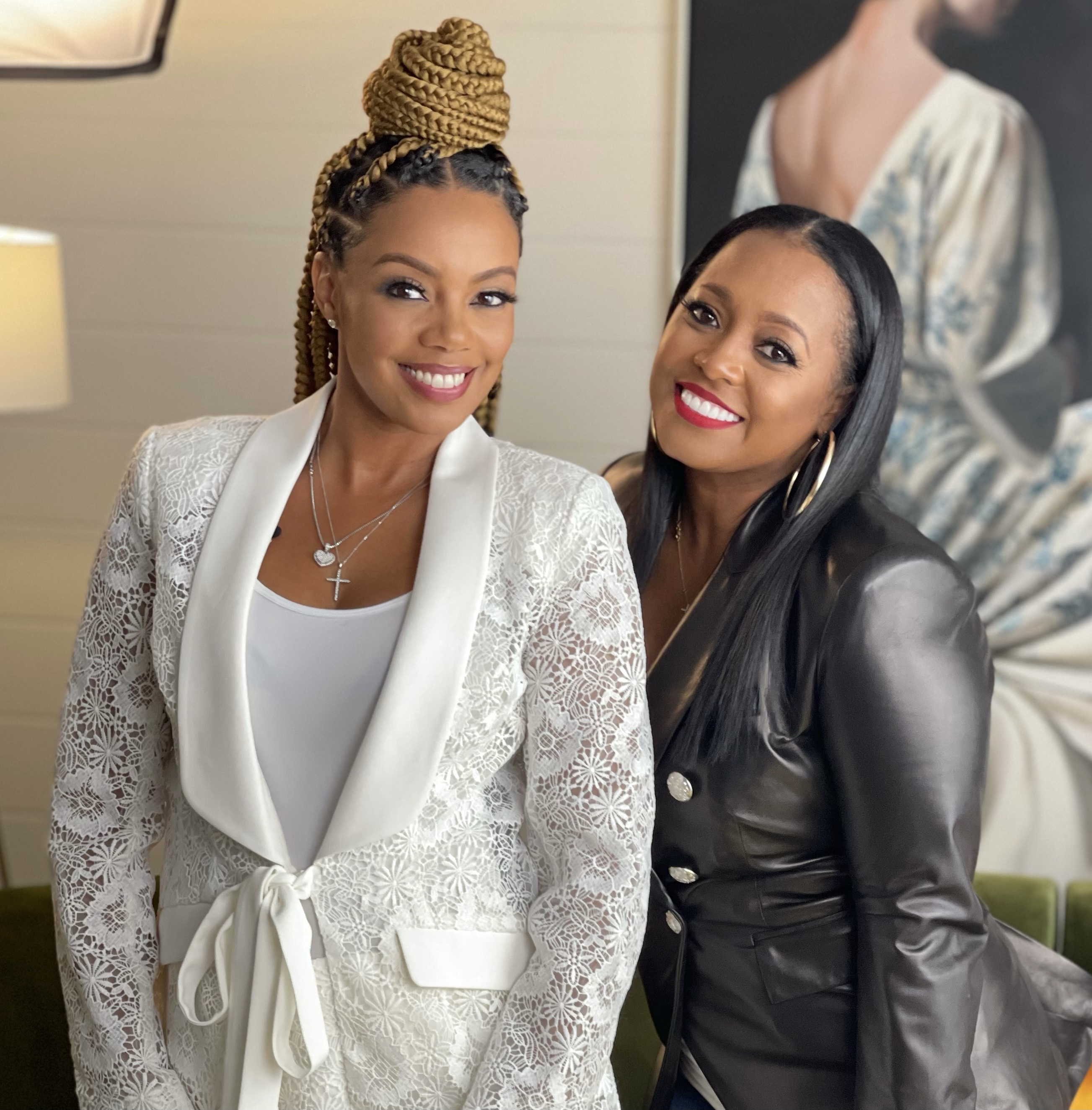 Monique Rodriguez, founder and CEO of Mielle Organics with Keshia Knight Pulliam