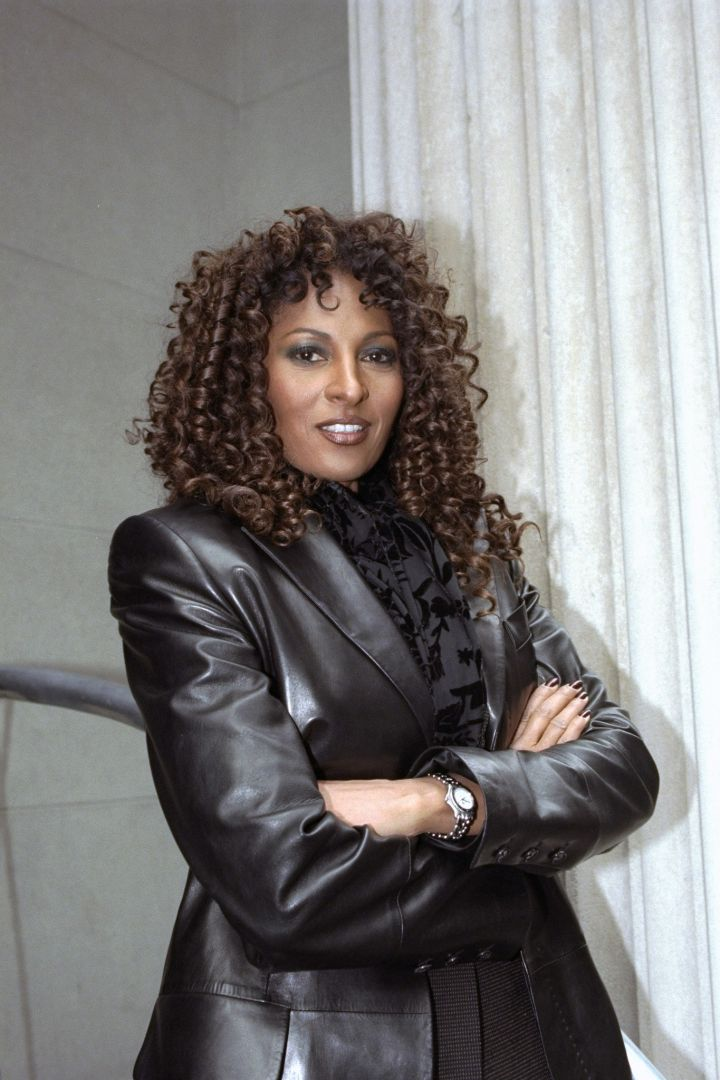 Actress Pam Grier at 44 W. 44th St.