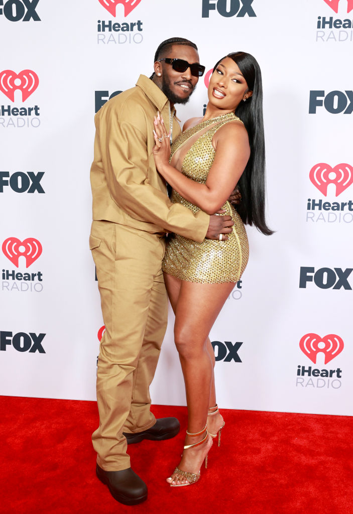 Megan Thee Stallion and Pardy Fontaine at the 2021 iHeartRadio Music Awards