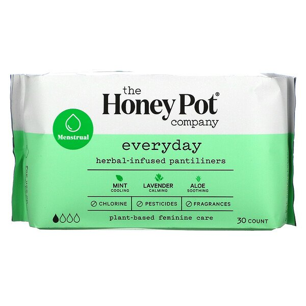 The Honey Pot Company, Everyday Herbal-Infused Pantiliners, $8.59