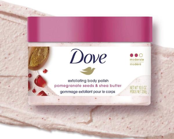 Dove Pomegranate Seeds & Shea Butter Exfoliating Body Polish Scrub