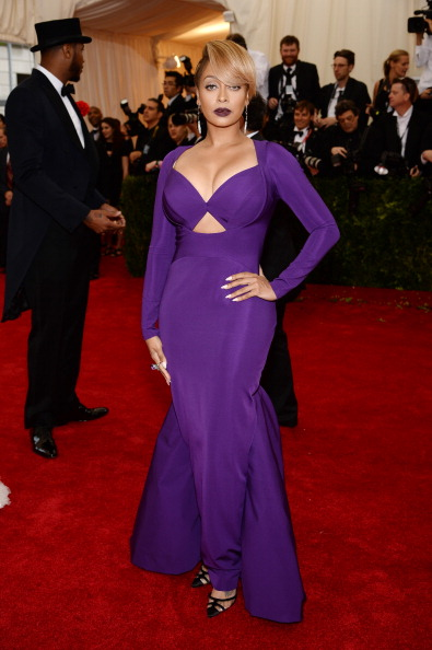 """LaLa Anthony at the """"Charles James: Beyond Fashion"""" Costume Institute Gala, 2014"""
