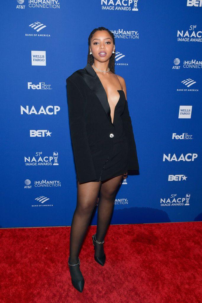 Chloe Bailey at the 51st NAACP Image Awards, 2020