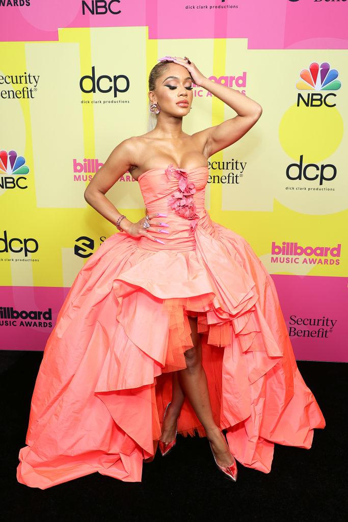 Saweetie at the Billboard Music Awards, 2021