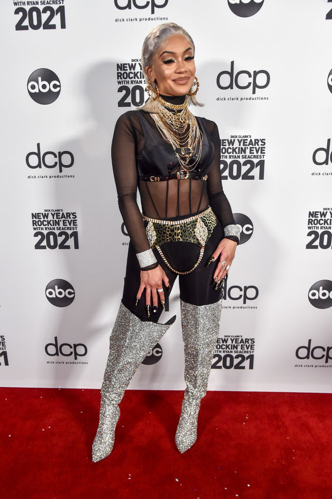 Saweetie at Dick Clark's New Year's Rockin' Eve With Ryan Seacrest, 2020