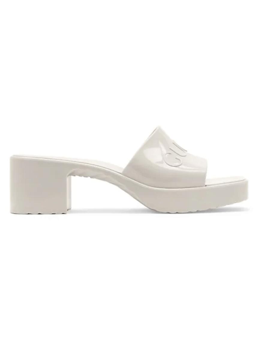 Gucci Women's Rubber Slide Sandals