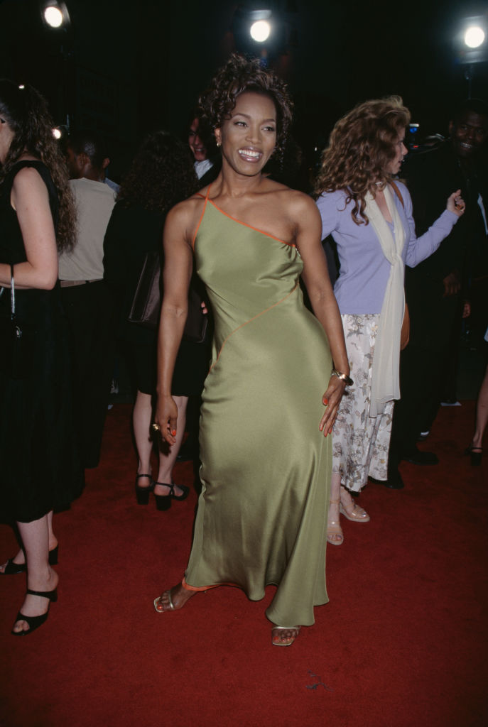 Angela Bassett at the premiere of 'How Stella Got Her Groove Back', 1998