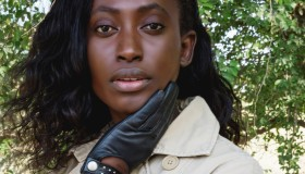 Black Woman Wearing Autumn Outfit Trench Coat