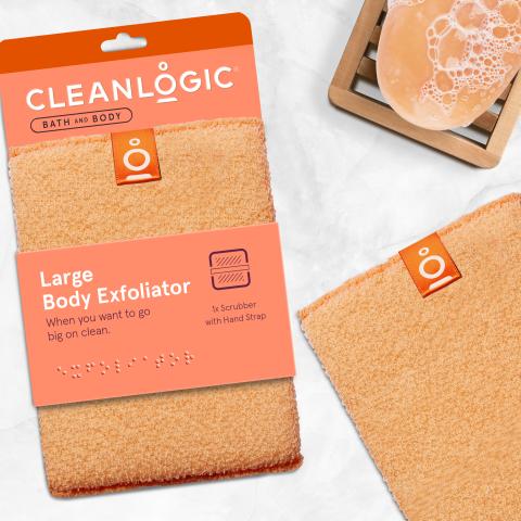 Cleanlogic Bath and Body Large Exfoliating Body Scrubber