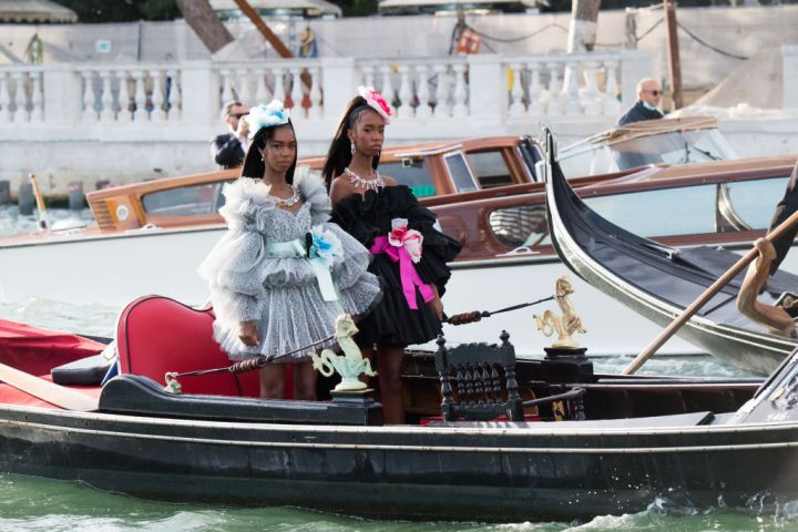 D'Lila Star Combs and Jessie James arrived at the Dolce&Gabbana Alta Moda show In Venice