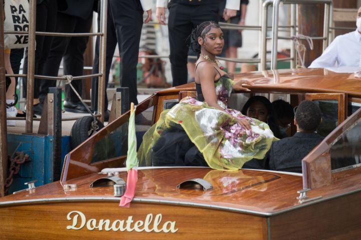 Normani arrives to the Dolce&Gabbana Alta Moda show In Venice