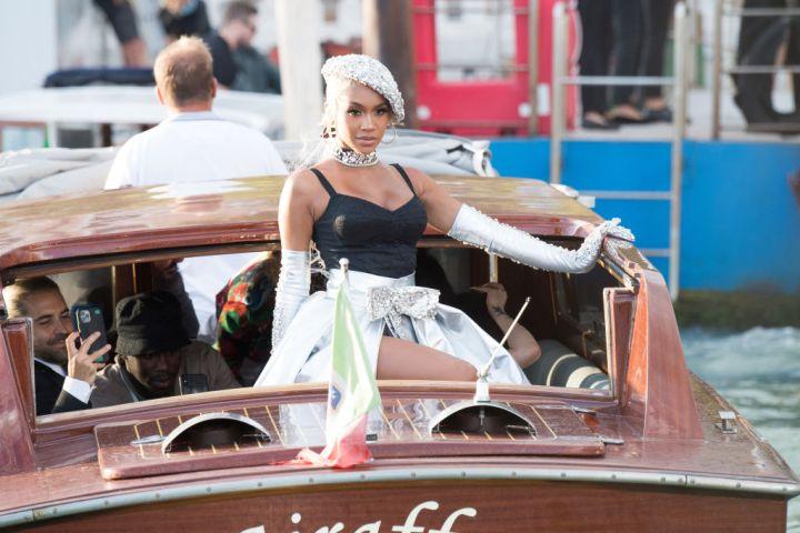 Saweetie arrives to the Dolce&Gabbana Alta Moda show In Venice