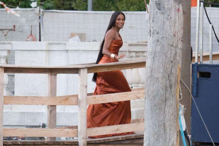 Ciara arrives to the Dolce&Gabbana Alta Moda show In Venice