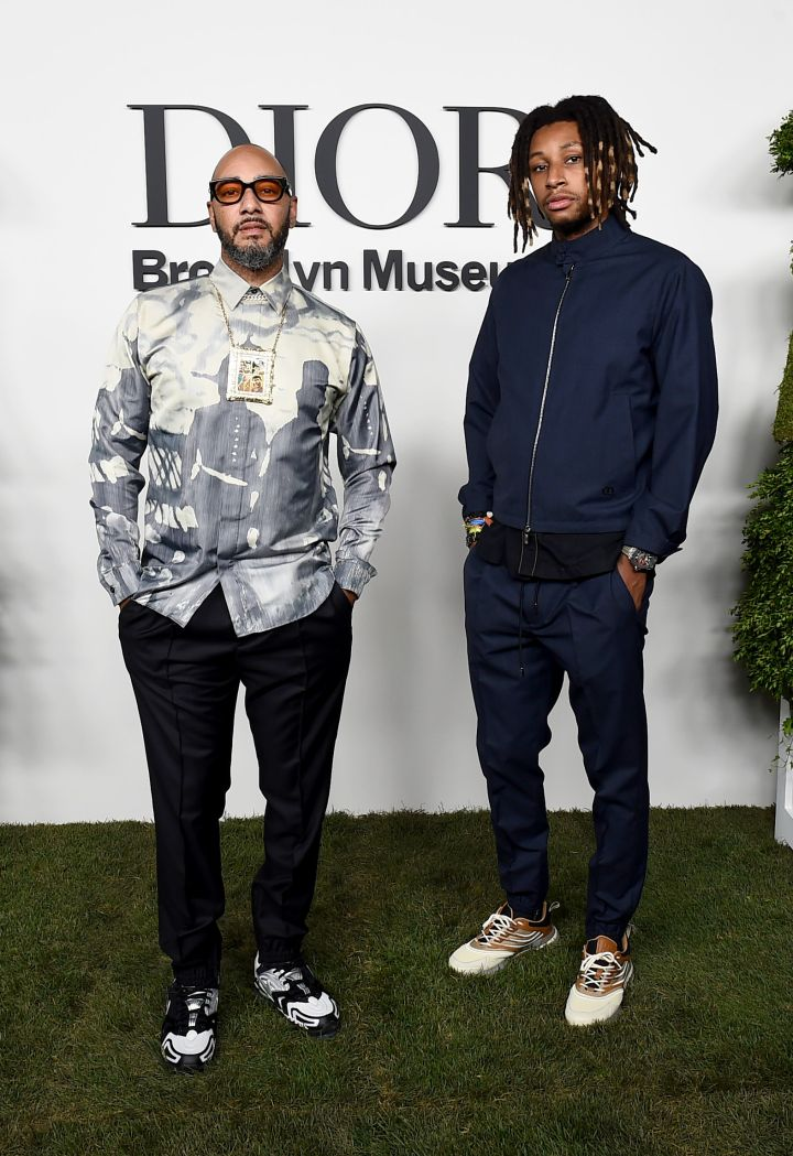 Swizz Beatz and Nasir Dean at the Christian Dior Designer Of Dreams Exhibition Cocktail Opening