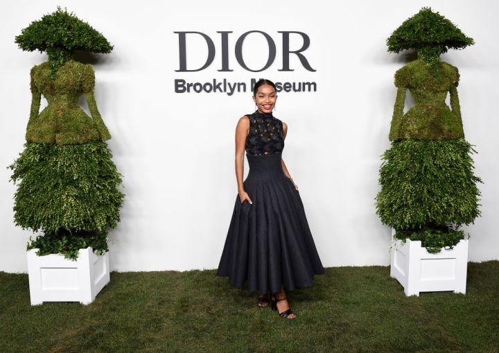 Yara Shahidi at the Christian Dior Designer Of Dreams Exhibition Cocktail Opening