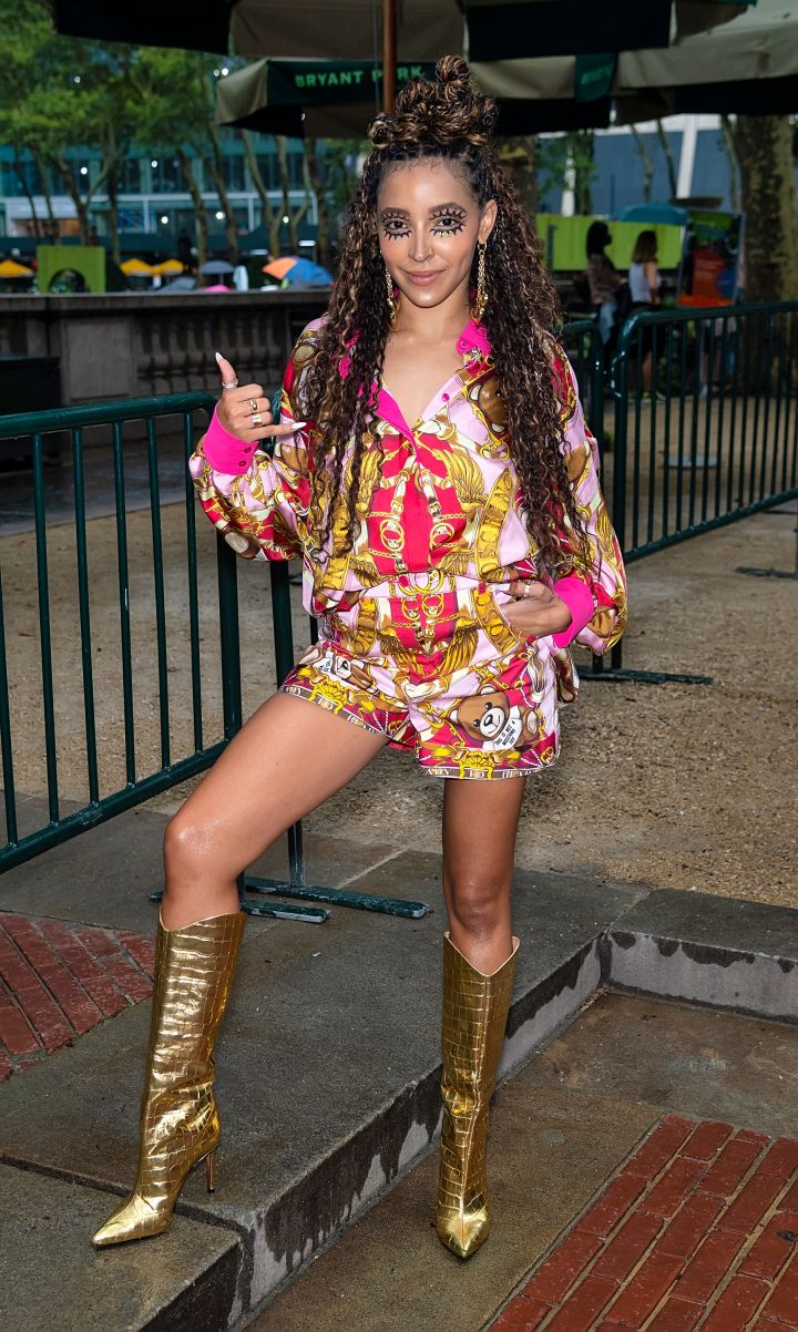 Tinashe At Moschino's S/S 22 Show for New York Fashion Week