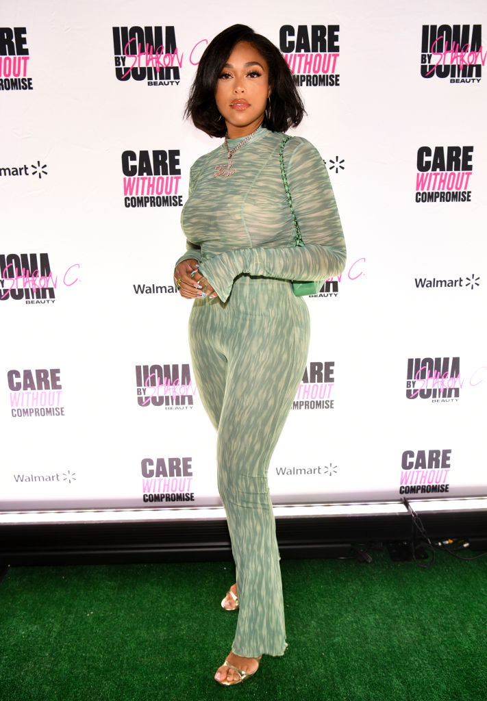 JORDYN WOODS AT UOMA PRIDE MONTH AND JUNETEENTH CELEBRATION LAUNCH EVENT, 2021
