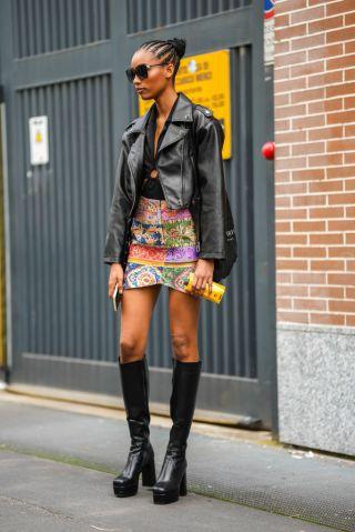 Street Style - Day 2 - Milan Fashion Week - Spring / Summer 2022