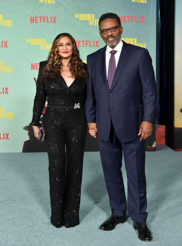 """Tina and Richard Lawson at the Los Angeles Premiere Of """"The Harder They Fall"""""""