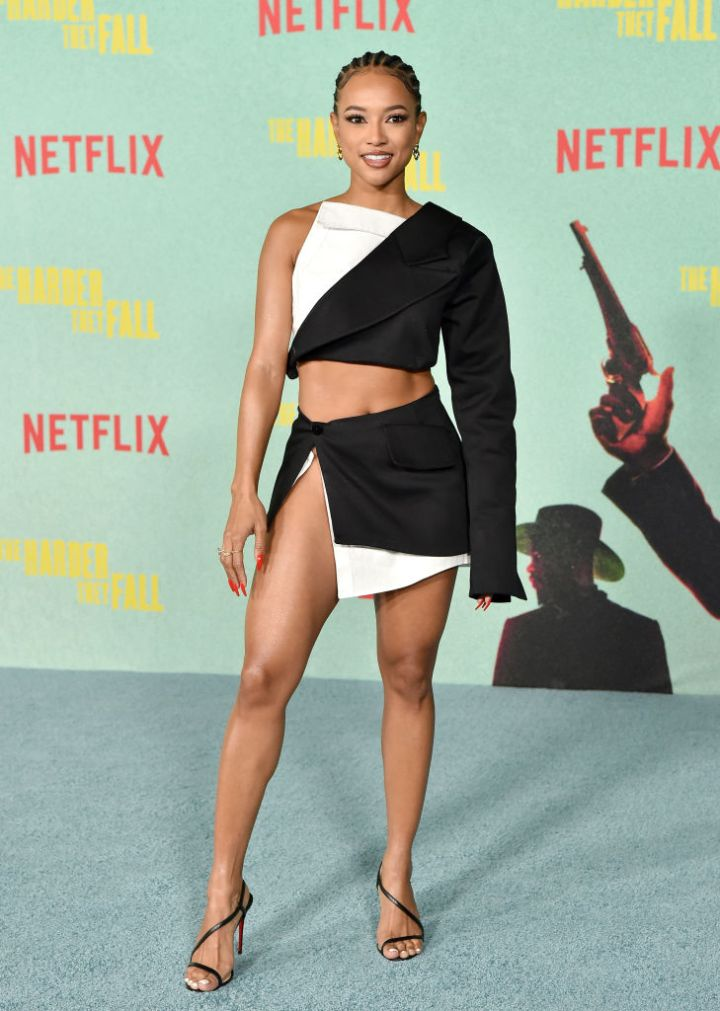 """Karrueche Tran at the Los Angeles Premiere Of """"The Harder They Fall"""""""